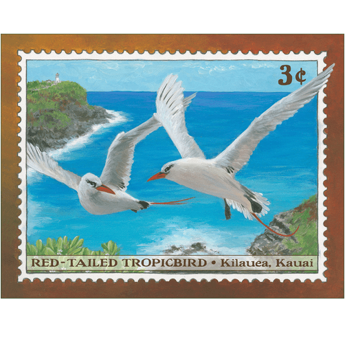 Red-Tailed Tropicbird 3¢ stamp Print