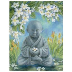 Young Buddha Plumeria Giclée