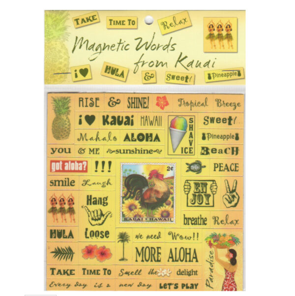 magnet words kauai yellow