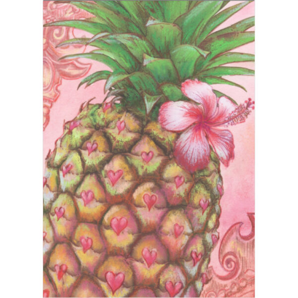 Pineapple in Pink Greeting Card
