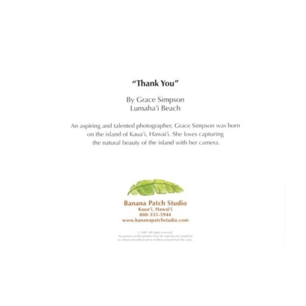 Thank You (Lumahai Beach) Greeting Card