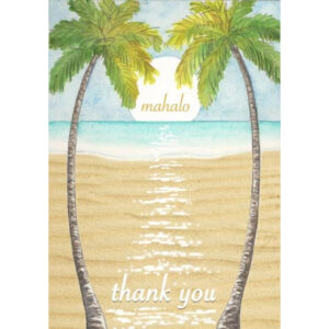 Palm Trees Mahalo Card