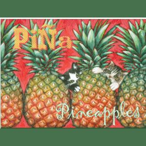 Pineapple Kittens Print