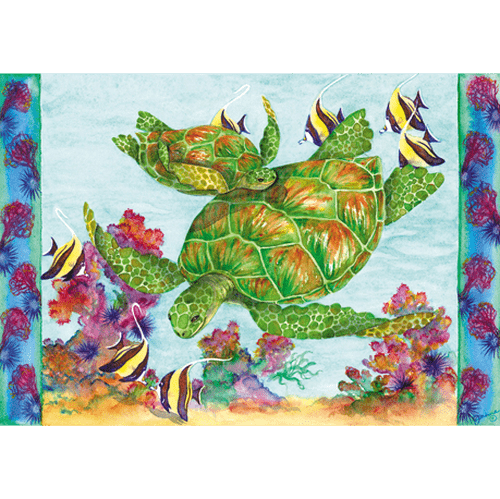 Green Sea Turtles Print