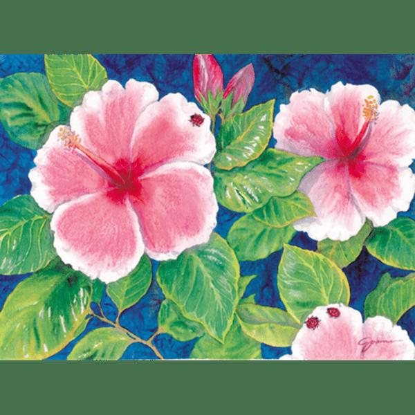 Hibiscus & Ladybugs Print