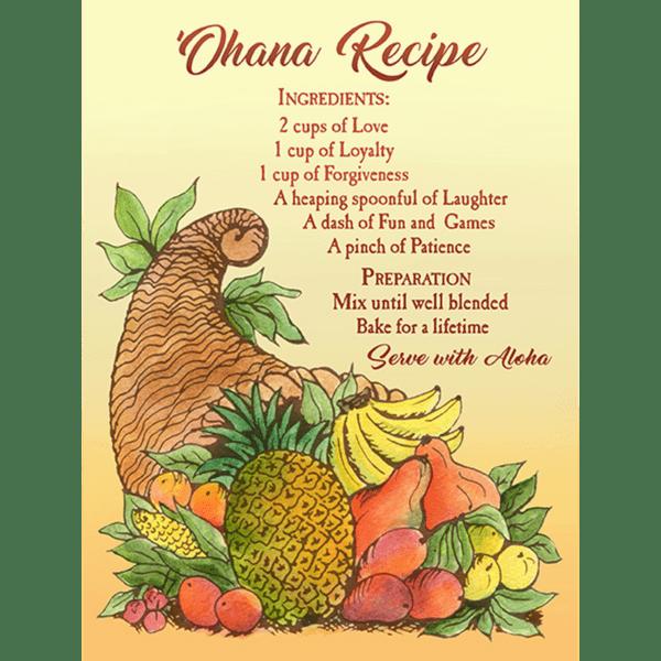 Ohana Recipe Print