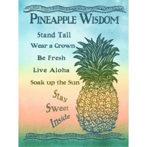Pineapple Wisdom Print