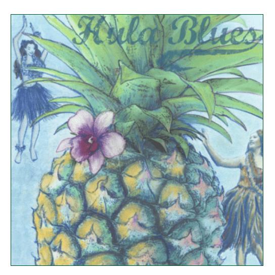 Pineapple Blues Print