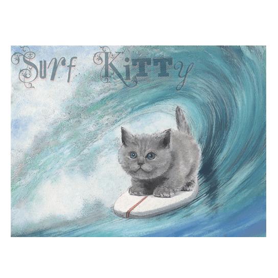 Surf Kitty Print