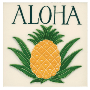 Aloha pineapple tile