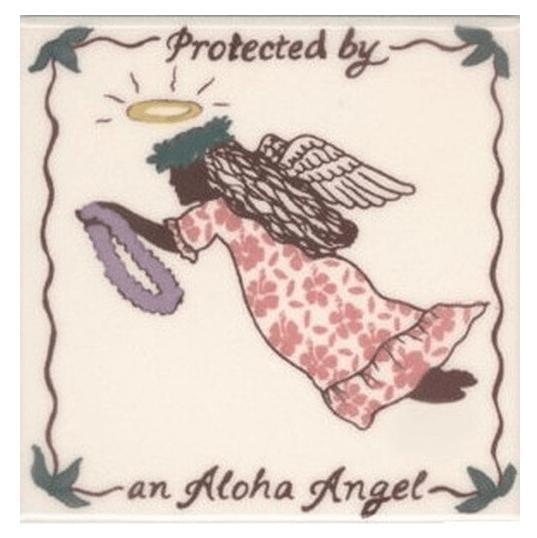 """Aloha Angel 4"""" Tile Pink"""