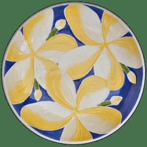 """Blue Plumeria 12"""" Pasta Bowl"""