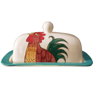 Blue Rooster Butter Dish