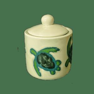 Celadon Turtles Sugar Bowl
