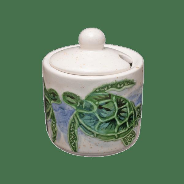 Embossed Honu Sugar Bowl