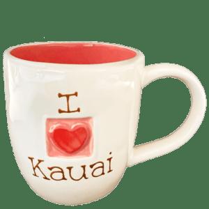 I Love Kauai Pink Mug