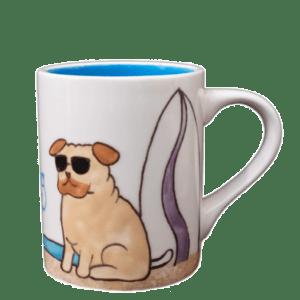 Surf Dog Pug Mug 4501
