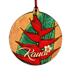 Plumeria Heliconia Ornament