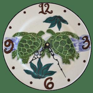 10 Embossed Honu Plate Clock Round
