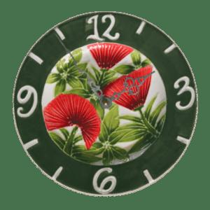 9 Ohia Lehua Plate Clock
