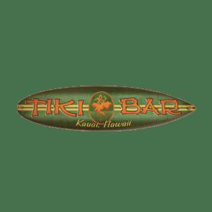 Tiki Bar - Wooden Surfboard Sign