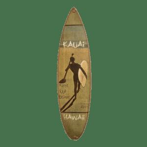 Tropical Fish - Poipu Beach - Wooden Surfboard Sign