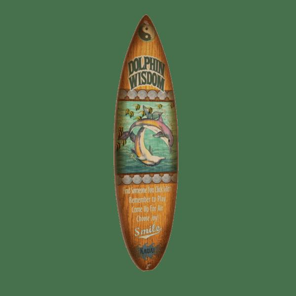 Mermaid Wisdom - Wooden Surfboard Sign