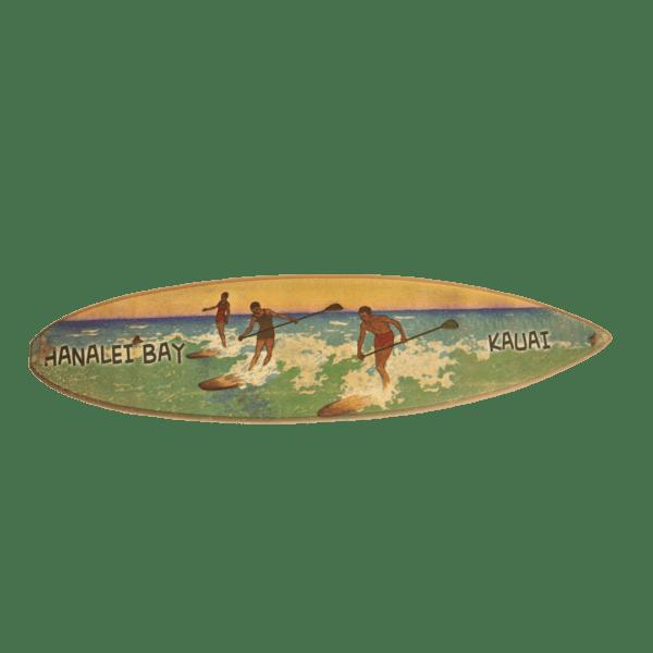 SUP Hanalei Wood Surboard Sign