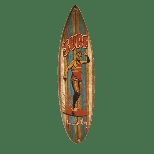 Old School Big Daddy Striped Surfboard Sign