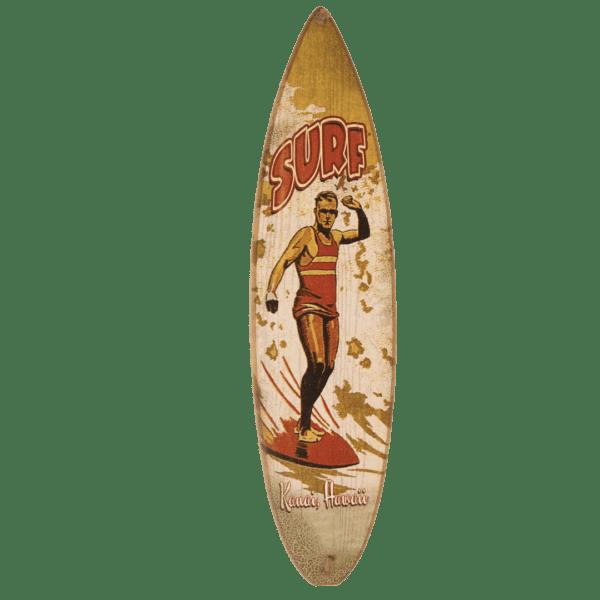 Big Daddy - Surf Kauai Hawaii Vintage Look Surfboard Sign