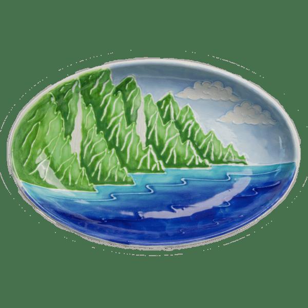 Oval Coupe Platter Na Pali