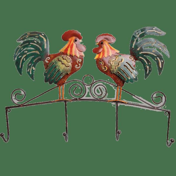 Double Rooster coat or key hanger