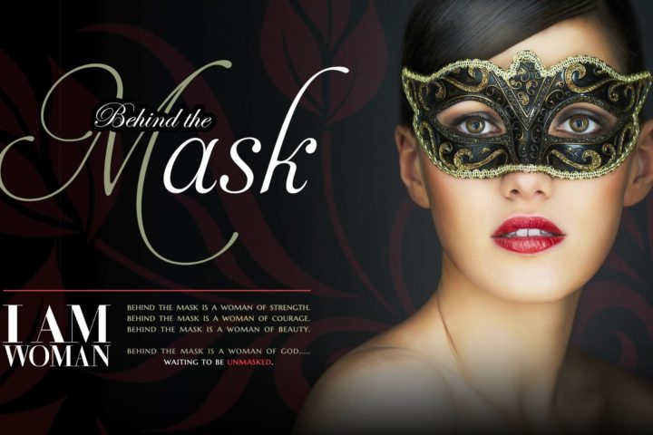 Woman behind a mask