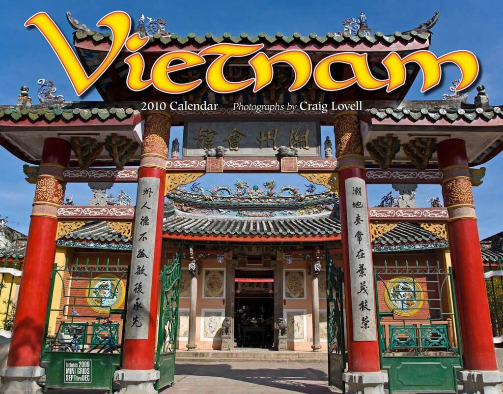 The cover of Tidemark Publishing Vietnam calendar with photography by Craig Lovell