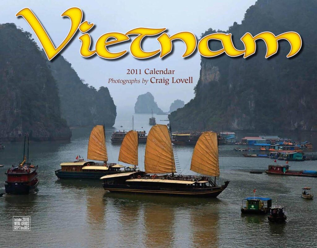 The 2011 cover of Tidemark Publishing Vietnam calendar with photography by Craig Lovell
