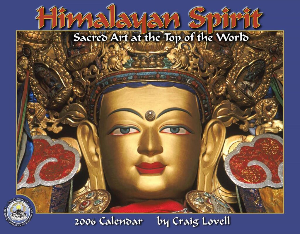 The cover of Tidemark Publishing Himalayan Spirit calendar with photography by Craig Lovell