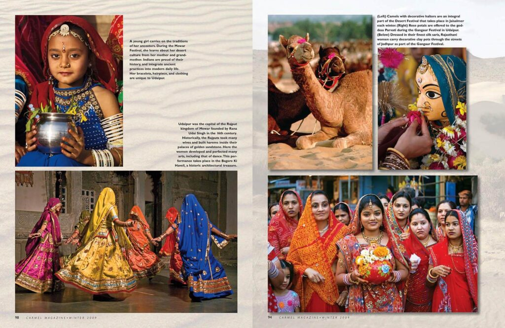 Craig Lovell's cultural article on Rajasthan titled Journey to the Far Pavilions in Carmel Magazine