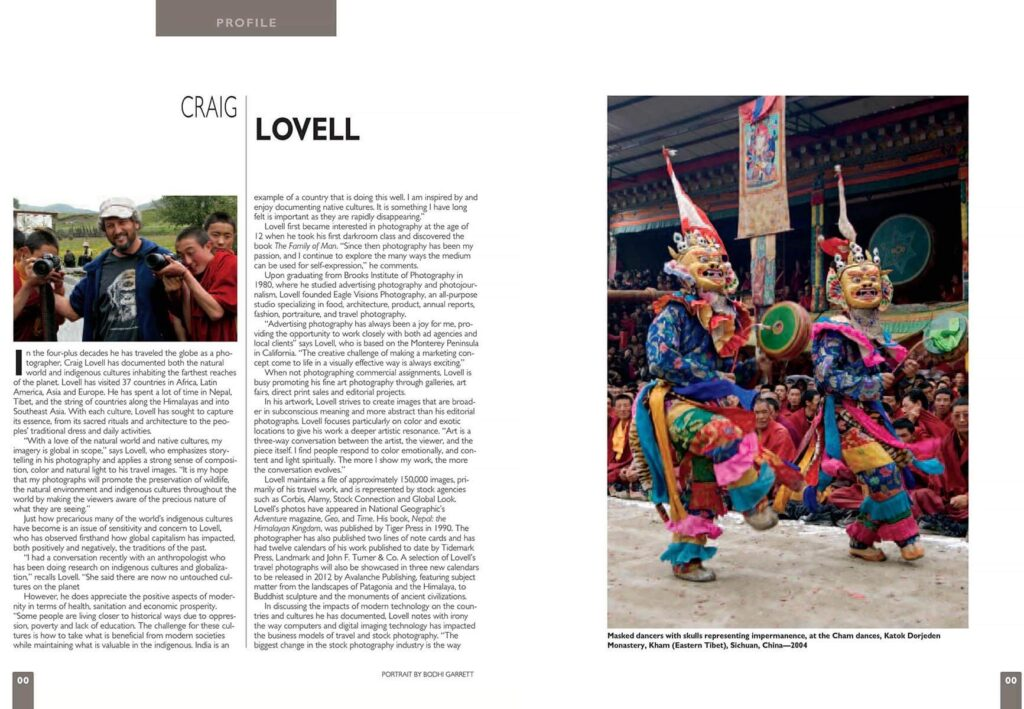 A profile of Craig Lovell's travel photography in Color Magazine.