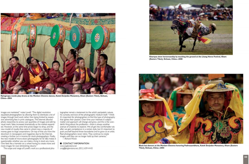 A portfolio of Craig Lovell's travel photography published in Color Magazine.