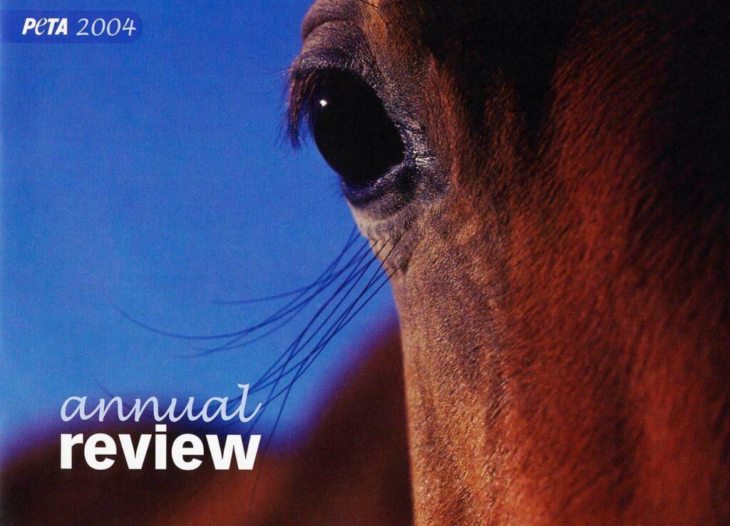 The PETA annual report cover