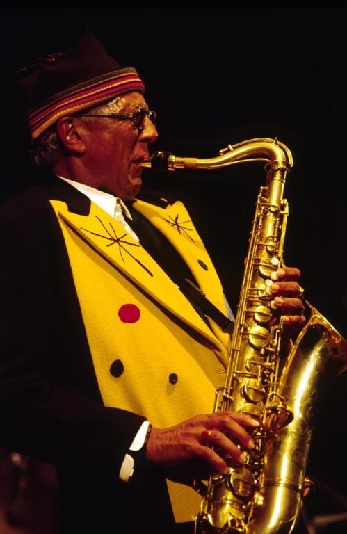 CHARLES LLOYD plays SAXOPHONE with his QUARTET at the MONTEREY JAZZ FESTIVAL - CALIFORNIA