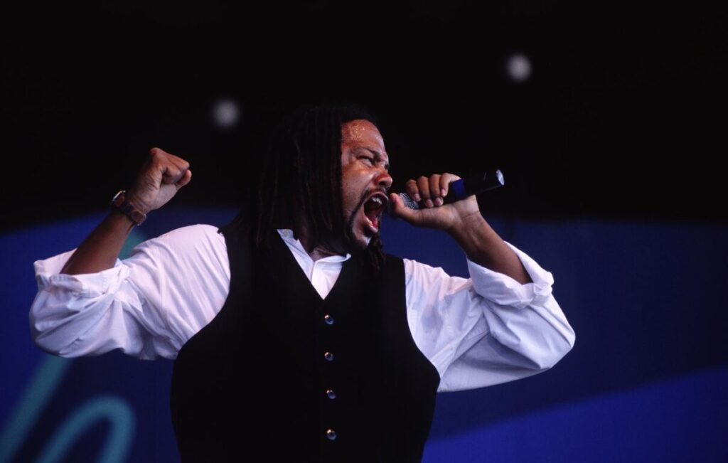 BRENT CARTER sings for TOWER OF POWER at the MONTEREY JAZZ FESTIVAL - CALIFORNIA