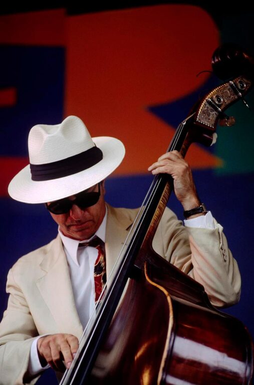 BING NATHAN plays bass for LAVAY SMITH & HER RED HOT SKILLET LICKERS at the MONTEREY JAZZ FESTIVAL - CALIFORNIA