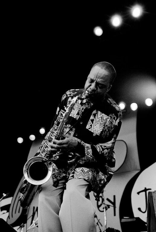 GROVER WASHINGTON JR. plays the saxophone at the MONTEREY JAZZ FESTIVAL  - MONTEREY, CALIFORNIA