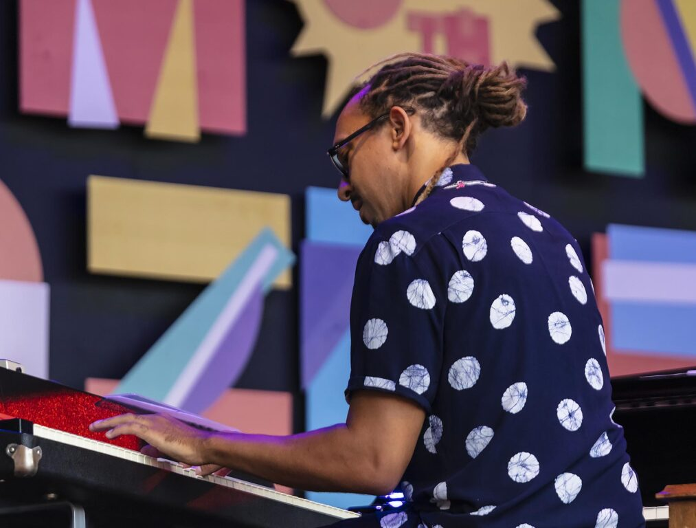 Gerald Clayton plays piano and keyboards at the 2021 Monterey Jazz Festival