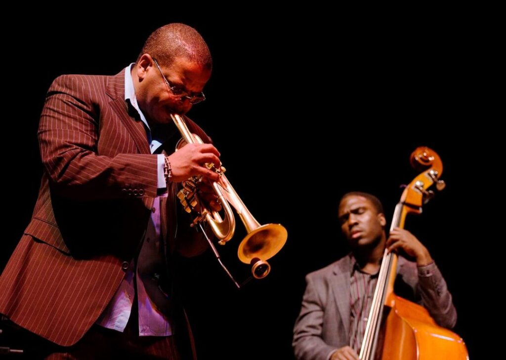 TERENCE BLANCHARD on TRUMPET performs with DERRICK HODGE at the NEW GENERATION JAZZ FESTIVAL - MONTEREY, CALIFORNIA
