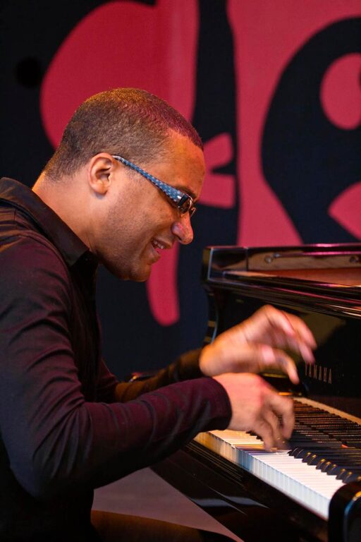 GANZALO RUBALCABA on piano on the JIMMY LYONS STAGE for the 50th anniversary MONTEREY JAZZ FESTIVAL - MONTEREY, CALIFORNIA