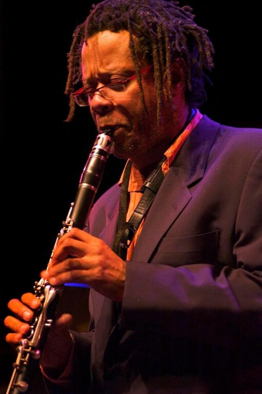 DON BYRON plays the clarinet at the MONTEREY JAZZ FESTIVAL - CALIFORNIA