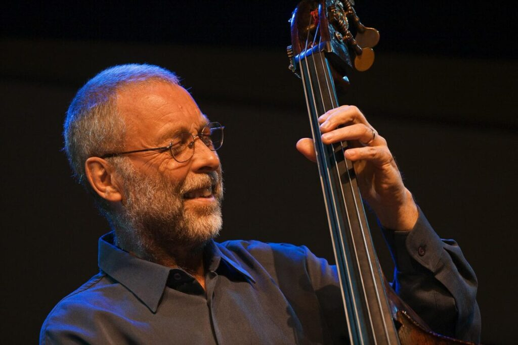 DAVE HOLLAND plays the base during the 50th anniversary MONTEREY JAZZ FESTIVAL - MONTEREY, CALIFORNIA