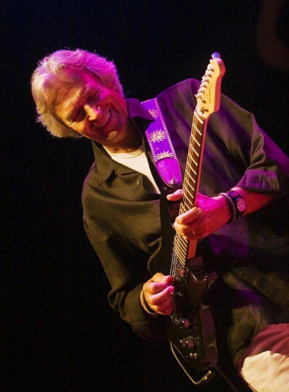 JOHN MCLAUGHLIN play his electric guitar during the 50th anniversary MONTEREY JAZZ FESTIVAL - MONTEREY, CALIFORNIA